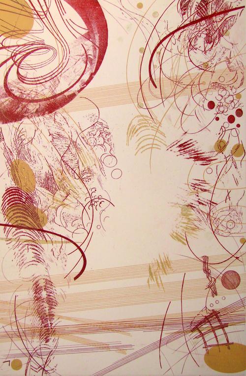 Rosalyn Richards  Vortex , 2009 Etching 18 x 12 inches