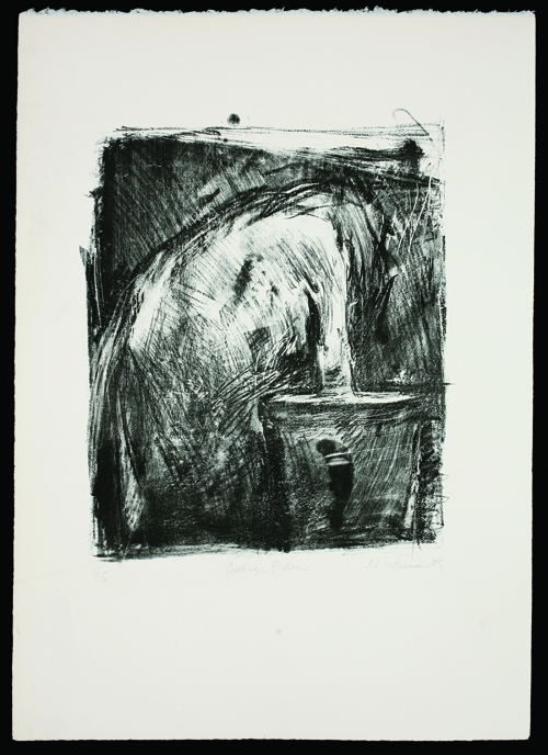 Nomi Silverman  Garbage Picker , 2009 Lithograph 12.5 x 10.5 inches