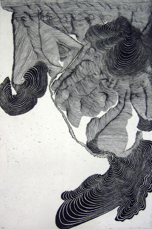 Craig Dongoski  Durations II , 2008 Intaglio 18 x 12 inches