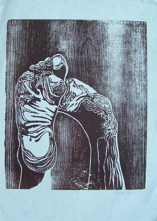 Andrea Mary  101508 , 2006 Woodcut 9 x 11 inches