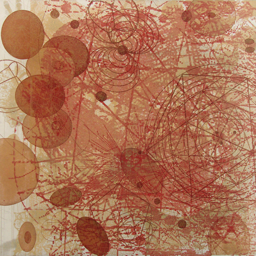 Rosalyn Richards  Mapping the Intensities , 2008 Etching 12 x 12 inches