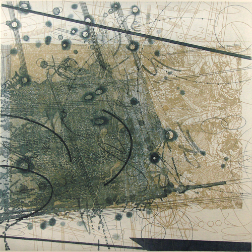 Rosalyn Richards  Dispersion , 2008 Etching 12 x 12 inches