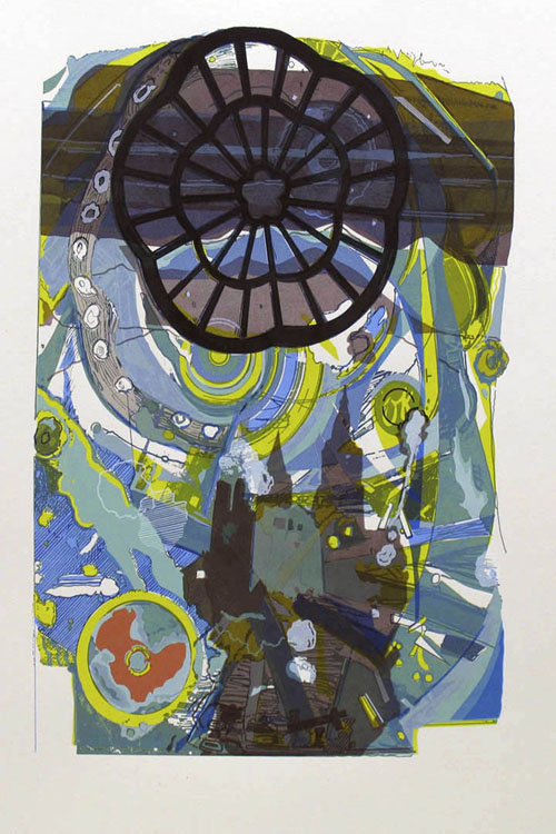 Thomas Seawell  ...And A Window Rising Somewhere , 2007 Serigraph 12 x 8.5 inches