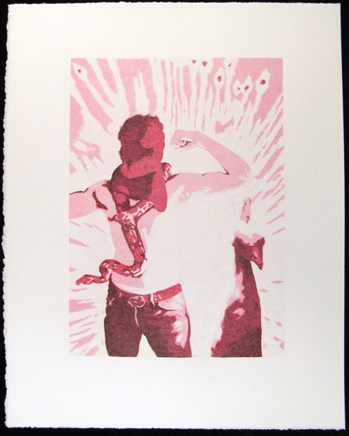 Brian Schuck  Mr. Knowitall, you blew it again , 2008 Stone lithograph 10.5 x 7 inches