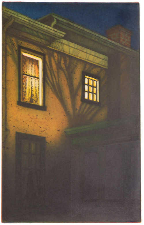 Mary Teichman  Still Up , 2007 Color etching 12 x 7.5 inches