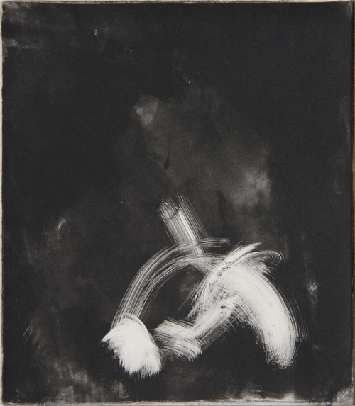 Lisa Russell  Emergence #48 , 2007 monoprint 9 x 8 inches