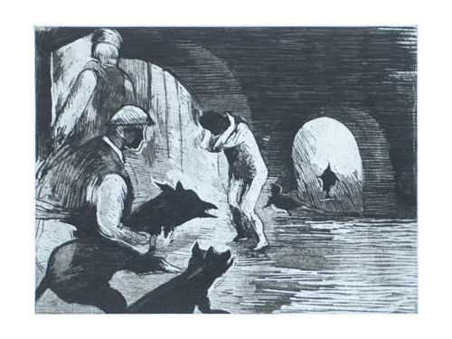 Martha Hayden  It has come to this! , 2006 etching and aquatint 9 x 12 inches