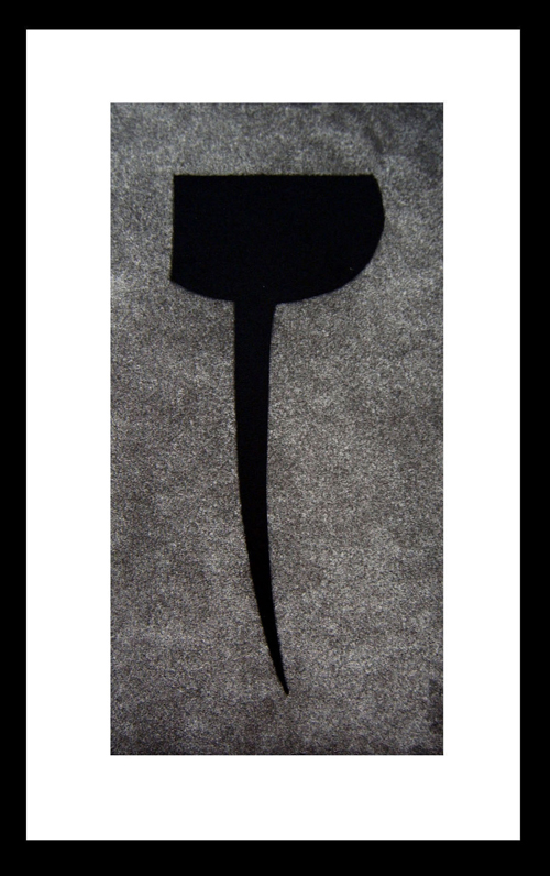 Joseph A. Lupo  That Was My Last Quarter , 2005 aquatint and mezzotint 8 x 4 inches