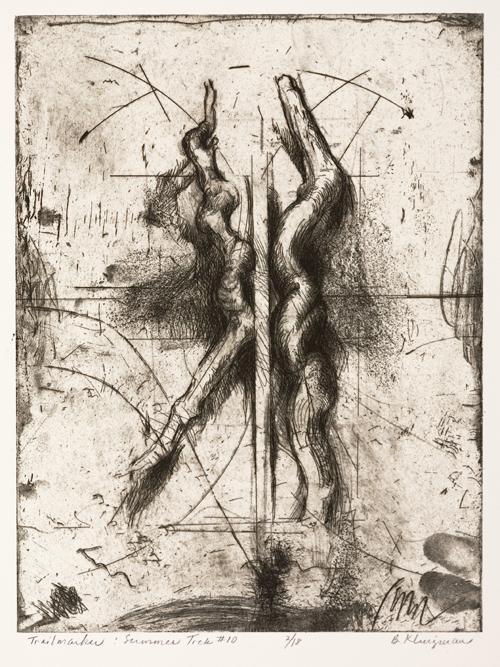 Berry Klingman  Trailmarker: Summer Trek #10 , 2005 etching with softground etching 9 x 12 inches