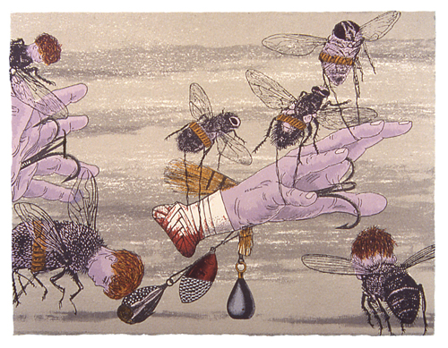 Nathan Feller Entrapment, 2005 screenprint 9 x 12 inches