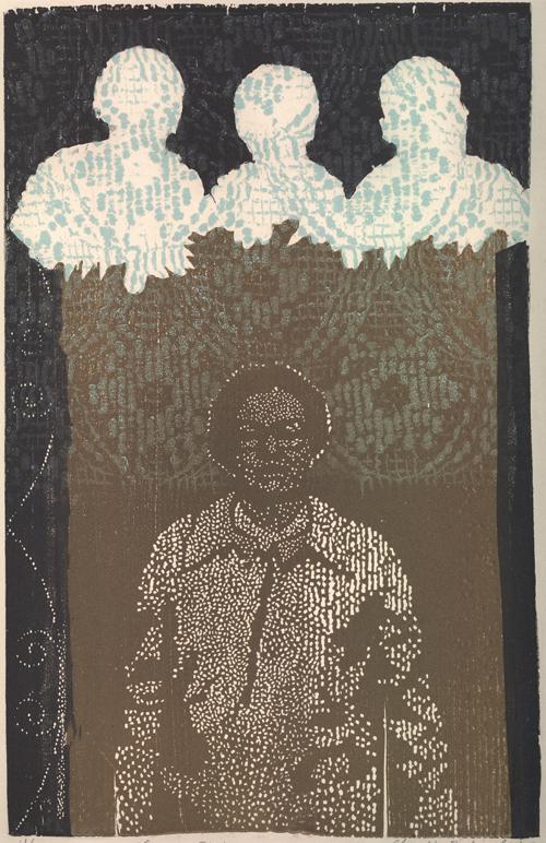 Claudia Berlinski  Eleanor Rising , 2005 multi-block relief print 9.5 x 6.25 inches