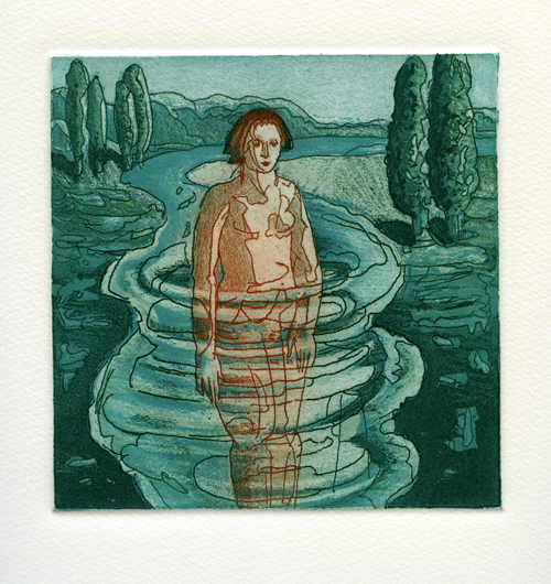 April Foster  Amend , 2005 color etching 11 x 10 inches