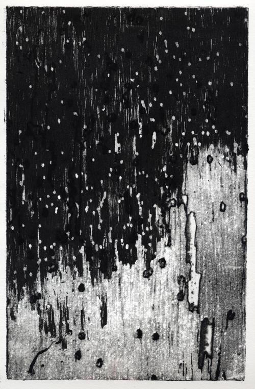 Kelli Langston  Espingarda , 2006 intaglio and woodcut 7 x 11 inches