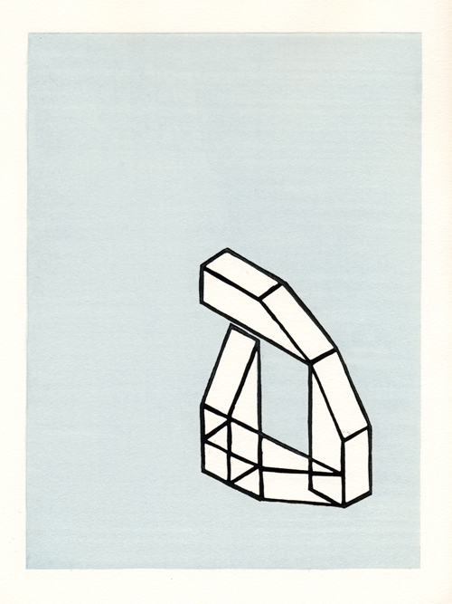 Jon Lee  J0502 , 2005 woodcut 13 x 9 inches