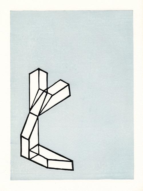 Jon Lee  J0505 , 2005 woodcut 13 x 9 inches