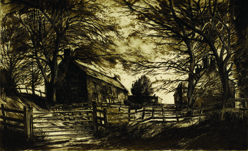 David Carr  Danby, North Yorkshire , 2005 Copper plate etching