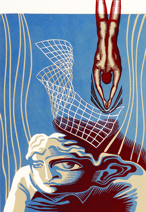 Natalia Moroz  Distortion of Personality , 2005 Linocut