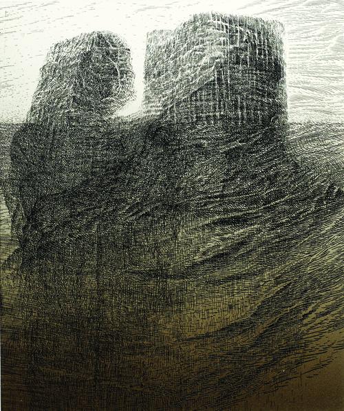 Koichi Yamamoto  Twin Bute , 2005 Intaglio