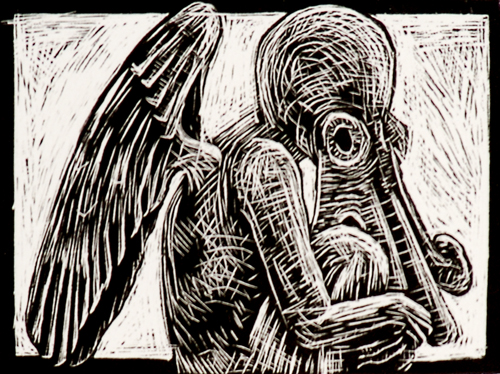 April Sheppard  Cthulhu  Wood engraving