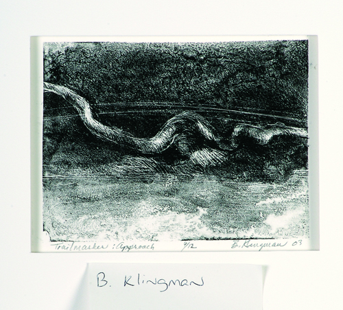 Berry Klingman  Trailmarker: Approach  Lithograph