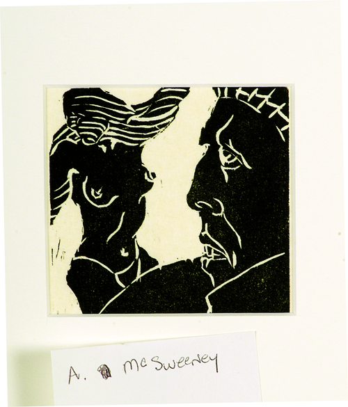 Art McSweeney  Lust  Woodcut