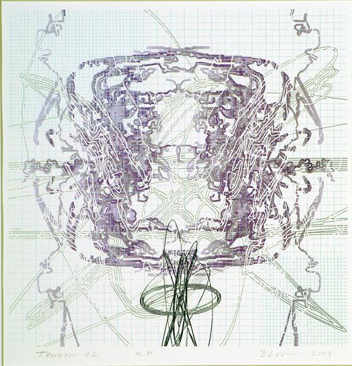 David Lee Myers  Tensor 02  Laser print