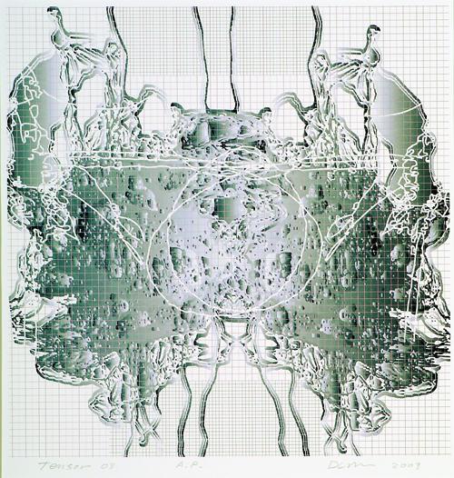 David Lee Myers  Tensor 03  Laser print