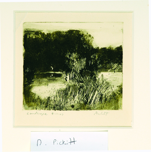 Denny Pickett  Landscape 8-11-03  Monotype