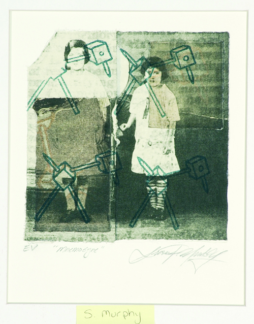 Sean P. Murphy  Mnemosyne  Photolithograph, chine collé