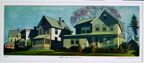 Michael Arike  Afternoon Shadows  Multi-plate aquatint