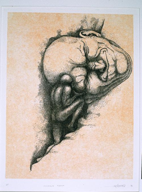 Peter Nuchims  Sisyphus Redux  Intaglio