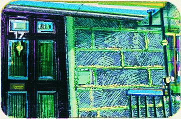 Thomas Seawell  Edinburgh Doors '99 – Robert Louis Stevenson  serigraph