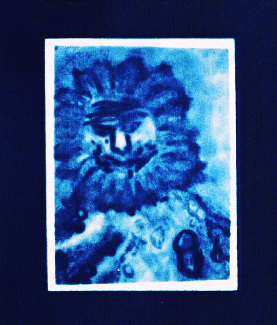 Andrew Grabar  Priest of the Unknown Nothing  cyanotype