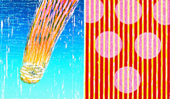 Kurt Wisneski  Comet with Stripes  woodcut & chine collé