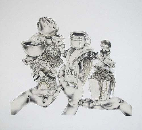 Valerie Syposz   Expectation Vs Reality , 2014 lithograph 13 x 16 inches
