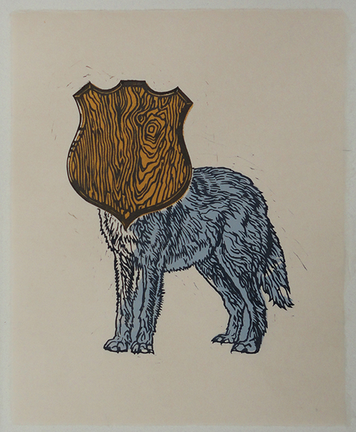 Brett Colley   Trophy , 2013 multi-block relief print 10 x 8 inches