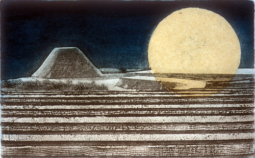 Grace Bentley-Scheck  The Shogun's Garden  Collagraph