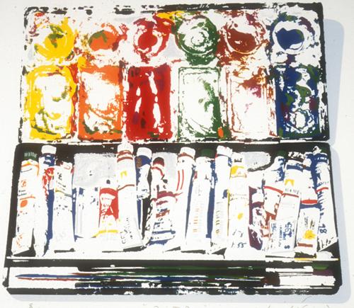 Michael Yankowski  Paint Box  serigraph