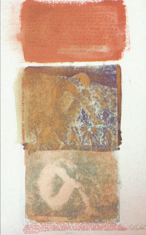 Bruce Childs  Self Love: After Vongloeden  cyanotype, acrylic