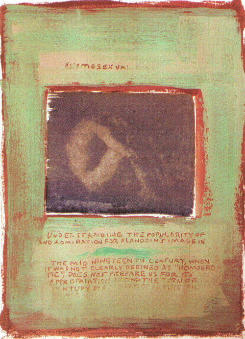 Bruce Childs  Cain Theme  cyanotype, acrylic