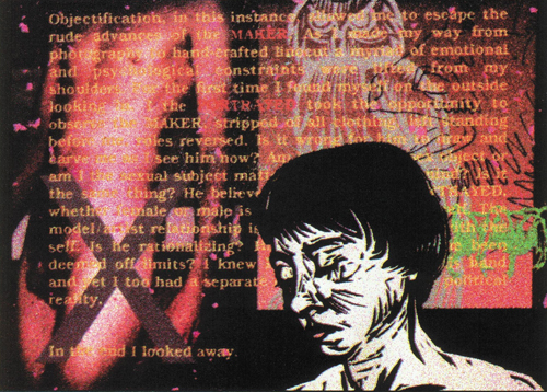 Christopher Hickey  Objectification  Scanned linocuts, computer manipulation