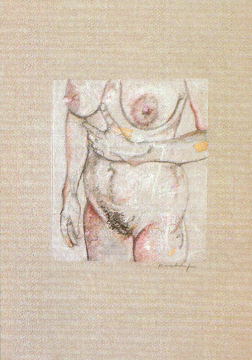 Dan Kirchhefer  Untitled  Monoprint, chine collé