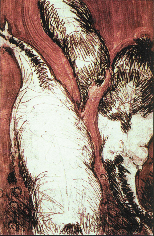 Becky McNeill  Horsebacks  Color etching