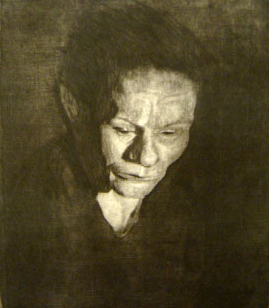 Kathe Kollwitz   Woman with the Bowed Head , 1905 soft-ground etching on paper 14.25 x 12 inches
