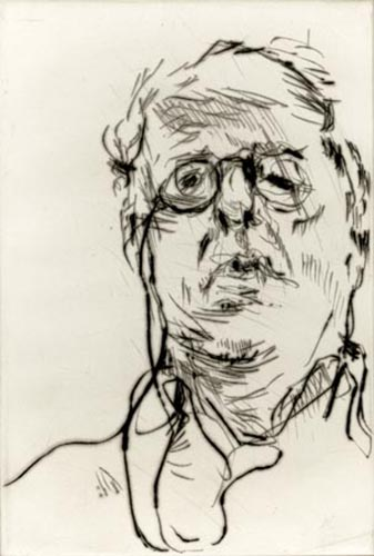 William Kentridge   Self Portrait , 2011 drypoint Courtesy of Brodsky Center for Innovative Editions