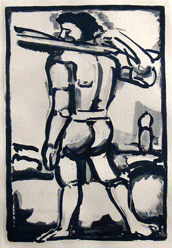 Georges Rouault   Aide-Bourreau , 1936 aquatint on Motual paper