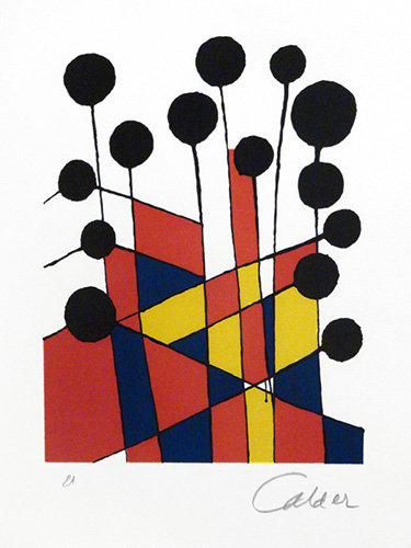 Alexander Calder   Musical Notes , n.d. color lithograph on paper