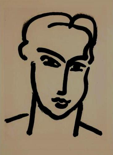 Henri Matisse   Grande Téte de Katia , 1950 lithograph on paper
