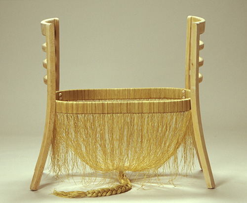 Loren Schwerd   Loveseat #1 , 2004 wood and waxed string