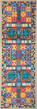 Murray N. DePillars   Talking Quilt - Ancestors Speak (Quilt series) , 2002 acrylic on canvas